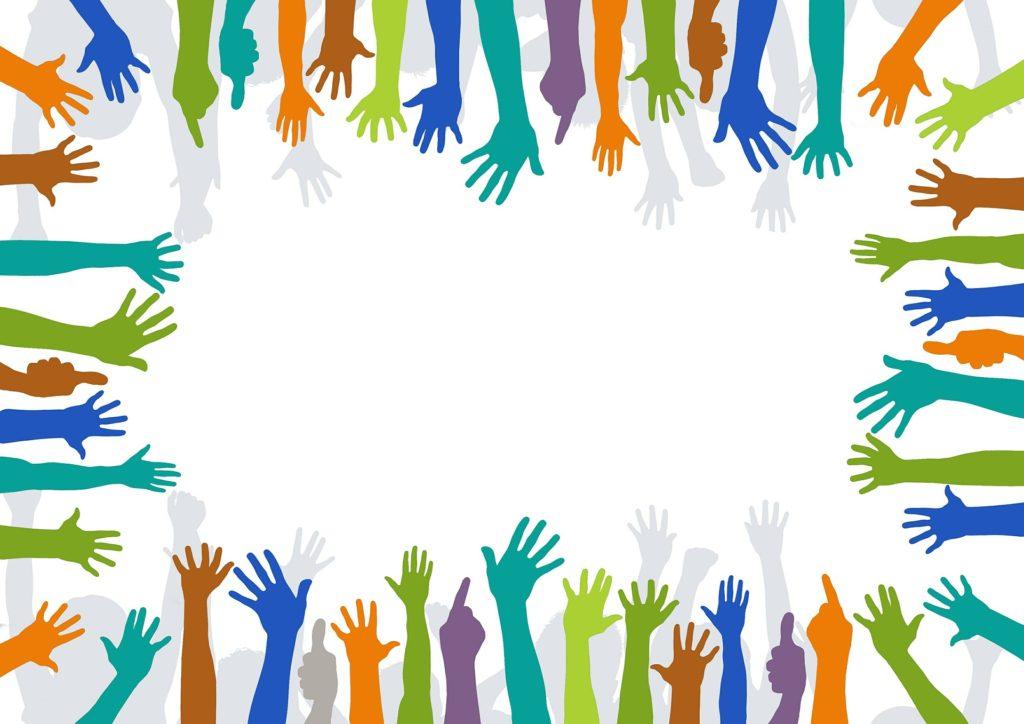 frivillig hænder