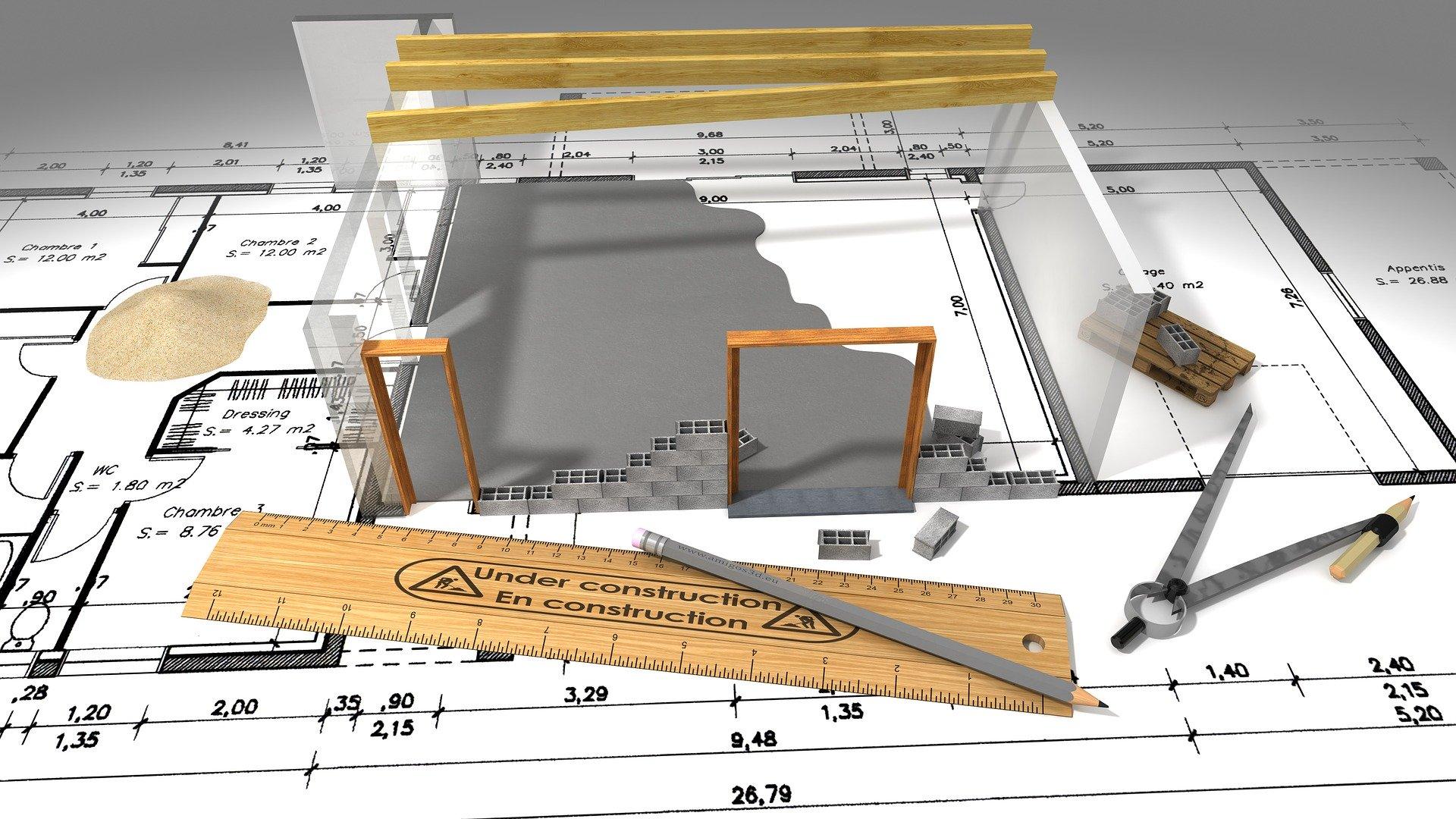 arkitekt tegning model 3D